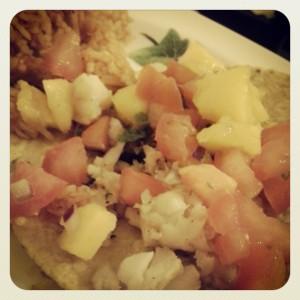 Fish taco! Err...tostada? Whatever.