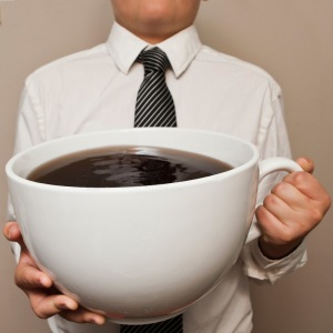 All hail coffee, thy savior and master. (Also, I pulled this image off Google. So, you know. Hope it's stock!)